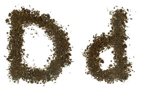 d: Soil Alphabet  Letters d