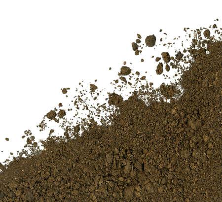 black soil: Soil background Stock Photo