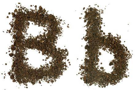 Soil alphabet. Letter b photo