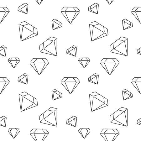 Vector seamless pattern with diamonds. Hand drawn background. Can be used for Wallpaper, pattern fills,web page background, surface textures and fabrics