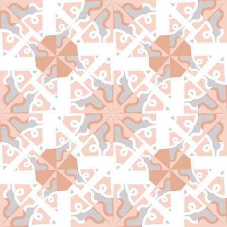 Abstract triangle mosaic pattern , multicolor vector seamless background with Doodle elements, geometric print. pastel noble colors