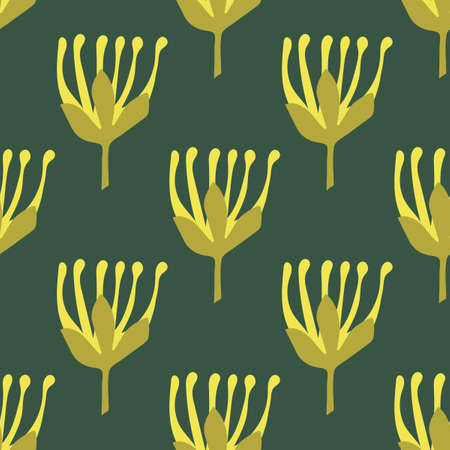 Botanical seamless pattern in Scandinavian style. Vector illustration. Fabric, Wallpaper, other surfaces