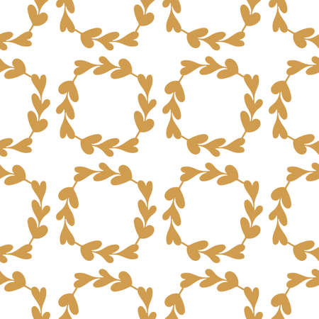 Seamless pattern with sprigs of fresh greenery on a dark background. Suitable for Wallpaper, textiles and other surfaces 일러스트