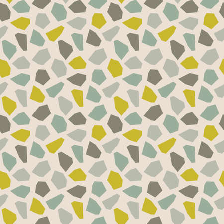 Terrazzo seamless pattern. Pastel colors on white light background . Stylish stone textures, Wallpapers, web backgrounds, fabric designs, covers and other surfaces.