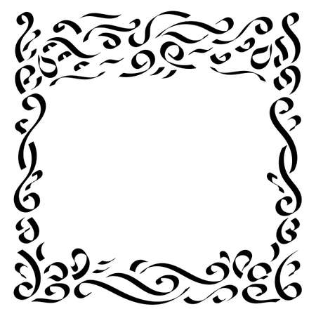 Vector decorative frame for pattern design. Oriental style. Illustration for invitation, congratulations,