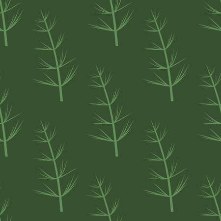 Seamless Botanical pattern. Horsetail, a medicinal plant. Vector hand-Drawn background for surface design