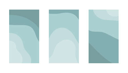 Set of abstract backgrounds with copy space for text. Vector  イラスト・ベクター素材