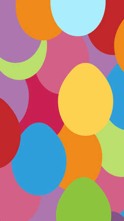 background with small colored eggs. Vector illuctration