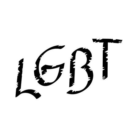 LGBT . Lesbian, gay, bisexual and transgender Hand drawn Vector illustration.  イラスト・ベクター素材