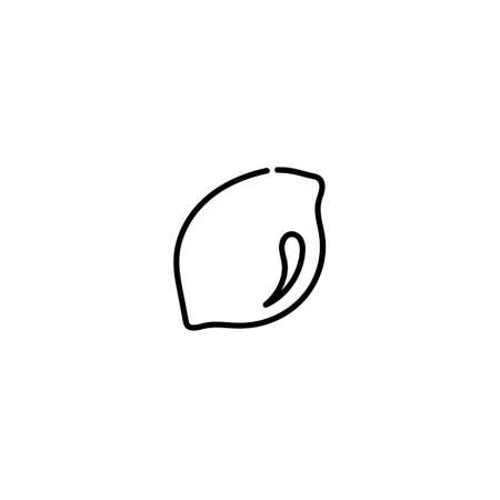 Limon icon in outline style, isolated on a white background. Summer fruits rich in vitamins, vegetarianism, vector illustration. For web and apps.