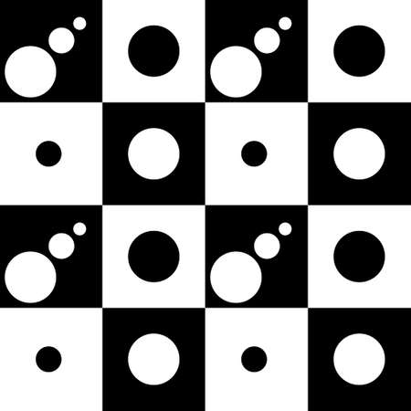 Vector Simple Modern Checkered Pattern and Polka dot . Blue and white textile print. Monochrome fashion design.