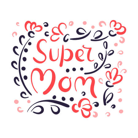Happy Mothers Day elegant lettering banner. Calligraphy vector text background for Mothers Day 向量圖像