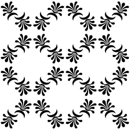 Seamless pattern in ethnic traditional style. Simple geometric Oriental floral motif . Palmette pattern design. Printing for internal textile, fabric, paper and other surfaces. Vector illustration