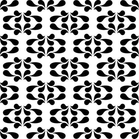 Seamless pattern in ethnic traditional style. Simple geometric Oriental floral motif . Palmette pattern design. Printing for internal textile, fabric, paper and other surfaces. Vector background 矢量图像