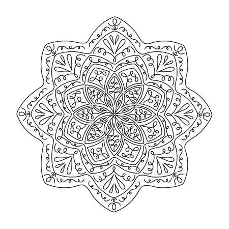 Ethnic and tribal mandala. Hand drawn decorative elements. Vector Oriental pattern for meditation, decoration, postcards Vektorgrafik