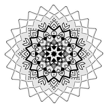 Mandala. Vintage decorative elements. Oriental pattern, Ethnic and tribal mandala on a white background.