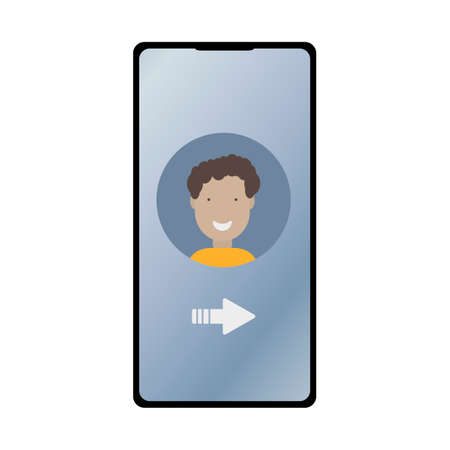 Mobile devices, communication, interaction. Phone numbers of a son or friend, husband, family rate, parental control. Flat vector illus,