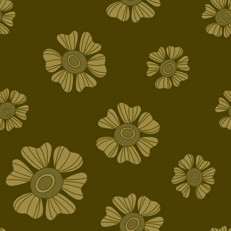 Seamless floral pattern. Hand Drawn flowers background fof fabric and other. Vector.