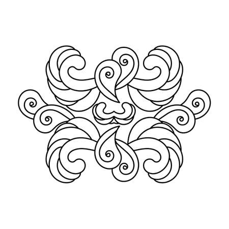Hand drawn Pattern with tribal ornament.Petals, Paisley, and other elements. Vector illustration can be used for textiles, greeting cards, coloring pages for children and adults. Ilustração