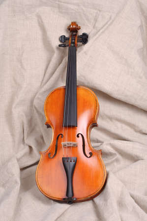 Violin in brown background  photo
