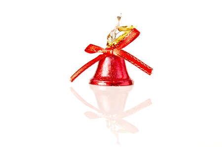 red bell isolated on white photo