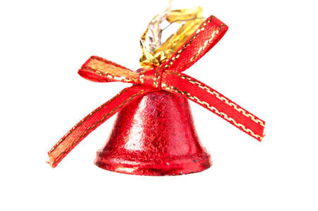red bell on white background photo