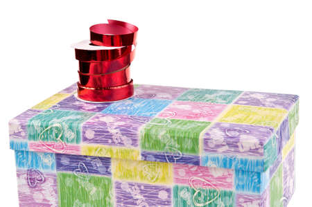 reb: caja de regalo colorida de la pizca de la cinta en - la preparaci�n para el embalaje
