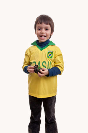 little boy with binoculars in his hands Stock Photo - 19090191