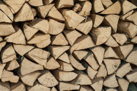 Pile of chopped firewood abstract pattern, background texture Stock Photo - 19971576