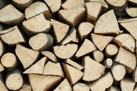 Pile of chopped firewood abstract pattern, background texture Stock Photo - 19971565