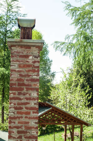close up chimney: Close up chimney on the roof Stock Photo