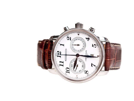 men's wrist watch isolated on white