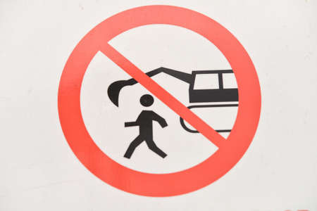 infrastructures: Construction sign on a building site. forbidden things on a site Stock Photo