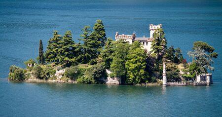 segregation: Loreto Island in Italy, Lumbardy, Iseo Lake