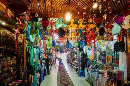 sharm el sheik: SHARM EL SHEIK, EGYPT - AUGUST 25, 2015: Interior of a kasbha offers all kinds of apparel and jewelry