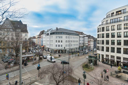 ESSEN, GEESSEN, GERMANY - JANUARY 25, 2017: The Ruettenscheider Stern is a busy road junction in the South of Esssen. Editorial