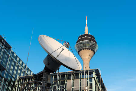 DUESSELDORF, GERMANY - JANUARY 20, 2017: The WDR one of the oldest German broadcasting and media companies has its regional headquarter and studios in the new media harbor.
