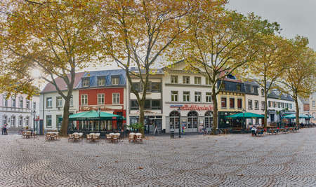 KEMPEN, GERMANY - OCTOBER 26, 2016: The central marketplace builds an attracive spot for visitors Editorial