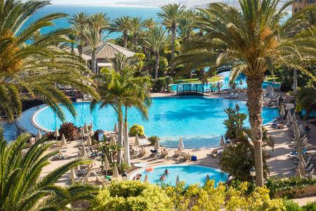 SPAIN, CANARY ISLANDS, FUERTEVENTURA - JUNE 17, 2016: R2 Rio Calma Hotel & Spa & Conference