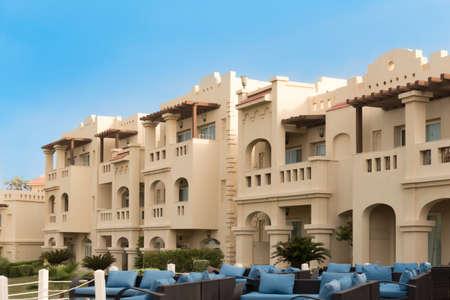 sharm el sheik: RIXOS SHARM EL SHEIK, EGYPT - AUGUST 27, 2015: Hotel area with leisure seats on a terrasse