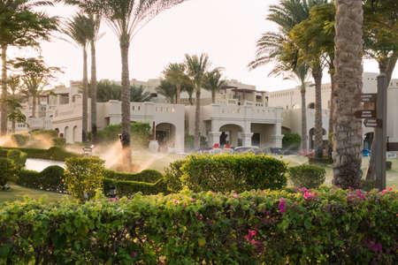 sharm el sheik: RIXOS SHARM EL SHEIK, EGYPT - AUGUST 25, 2015: Hotel seaside area in the afternoon sun