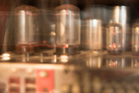 Glowing Tubes of a Tube Amplifier creating a warm light.