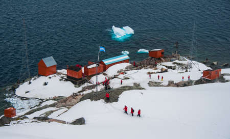 polar station: This shot was made during expedition to Antarctica in January 2012  Paradise Bay  Editorial
