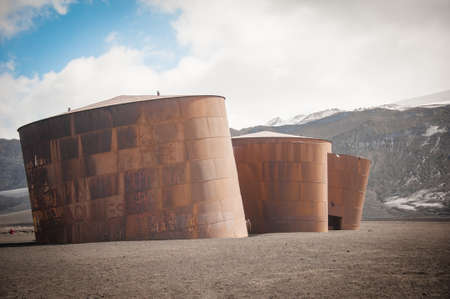 polar station: This shot was made during expedition to Antarctica in January 2012  Deception Island
