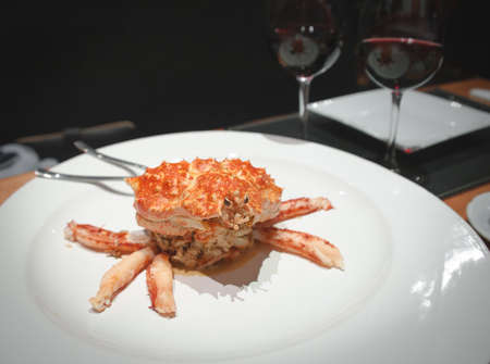 french cuisine: King crab in Ushuaia Stock Photo