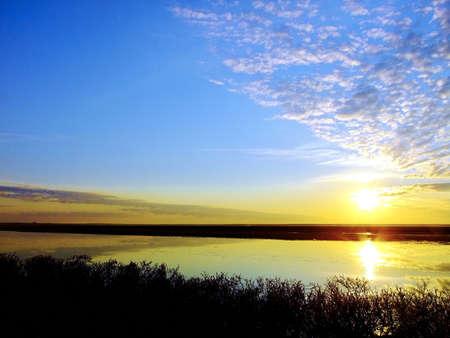 tundra: Sunset on the tundra