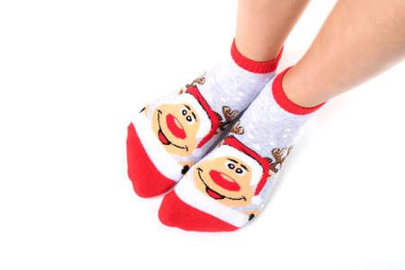 female legs in  socks Stock Photo