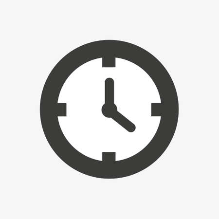 Time icon,Clock icon vector. Time sign. vector illustration. Flat design. Eps 10 向量圖像
