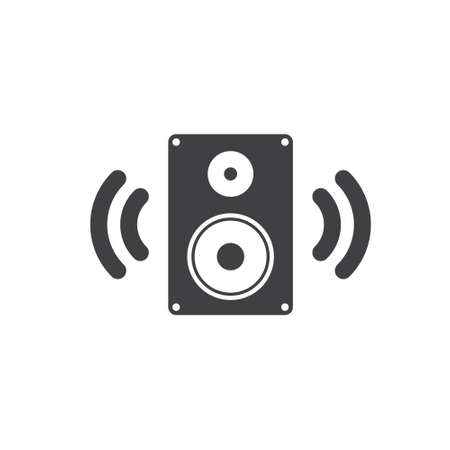 Speaker icon vector, Sound, audio music sign Isolated on white background. Trendy Flat style for graphic design. Eps 10