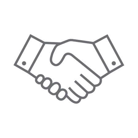 Handshake line icon. Partnership and agreement symbol